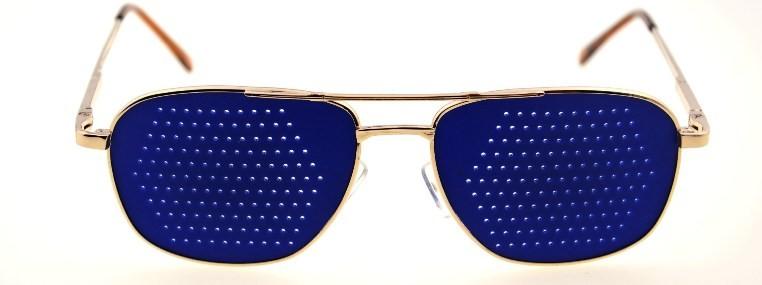 Синие очки тренажеры.